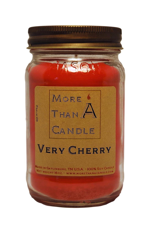 愛用 More Than A Candle 16 VCY16M 16 A oz Mason B079QN85RX Jar Soy Candle, Very Cherry B079QN85RX, サンパック webshop:52ebfac1 --- egreensolutions.ca
