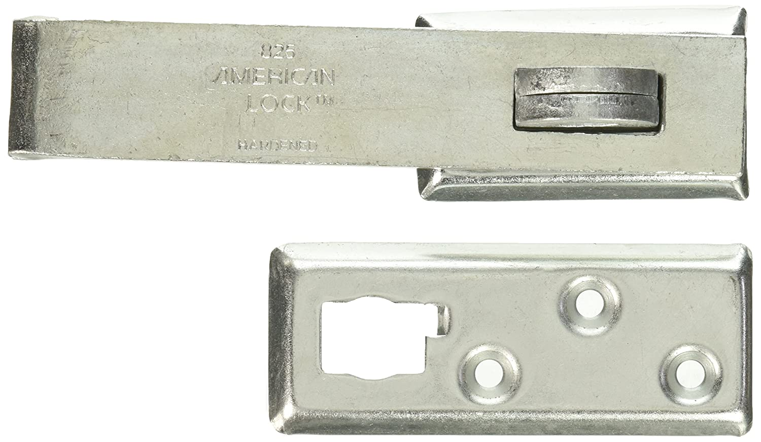 MASTER LOCK A825D American Heavy Duty Straight Bar Locking Hasp 7 16 in Shackle 7 1 4 in L 7 1 2