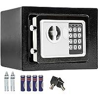 TecTake Caja Fuerte electrónica Pared Safe Caja de Seguridad Mini Hotel Seguro + Llave (17x23x17 | No. 400727)