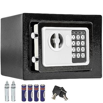 TecTake Caja fuerte electrónica pared safe Caja de Seguridad mini hotel seguro + llave - disponible
