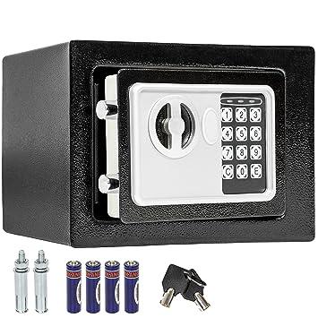 TecTake Caja fuerte electrónica pared safe Caja de Seguridad mini hotel seguro + llave - disponible en diferentes colores - (17x23x17 | No.