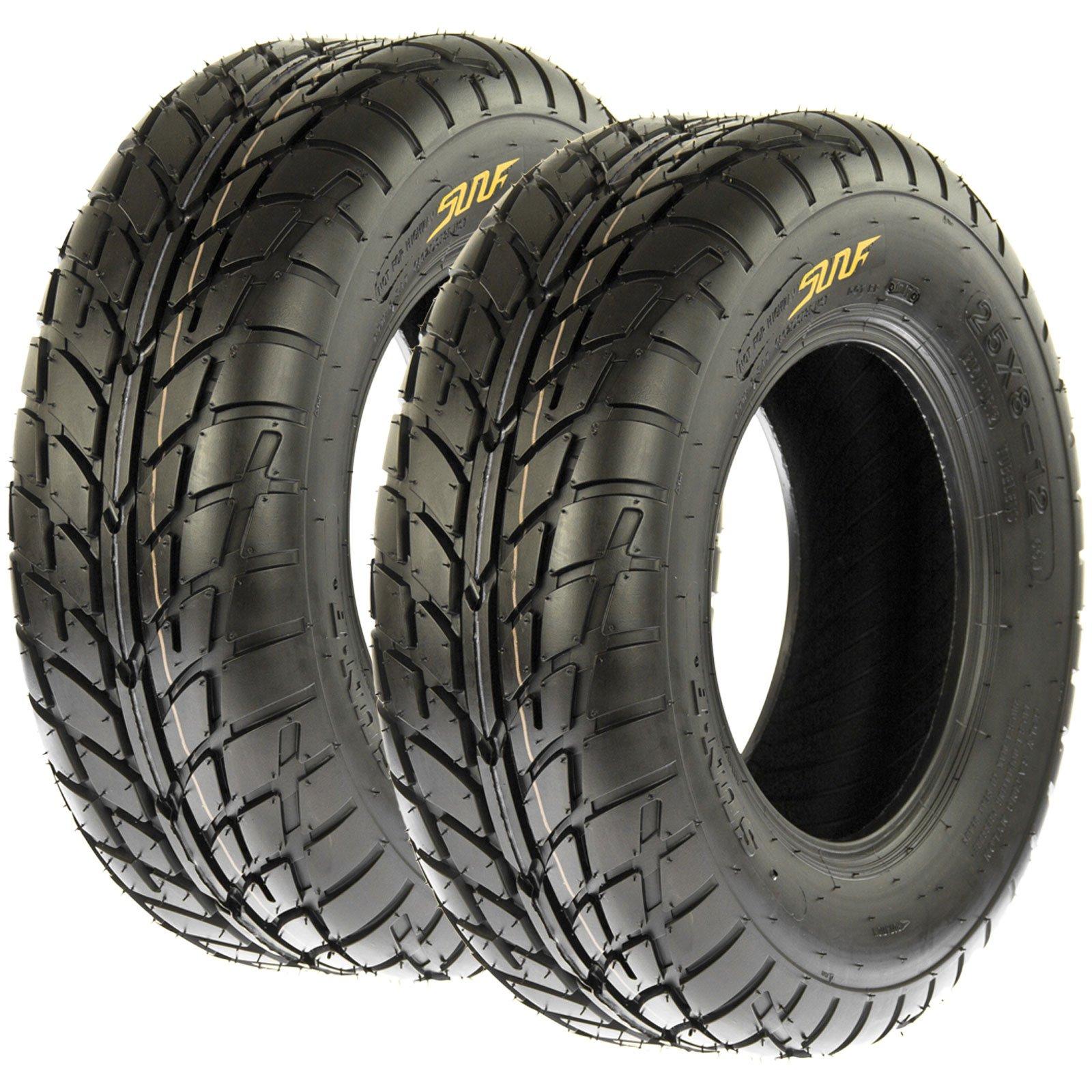 Pair of 2 SunF A021 TT Sport ATV UTV Dirt & Flat Track Tires 22x7-10, 6 PR, Tubeless