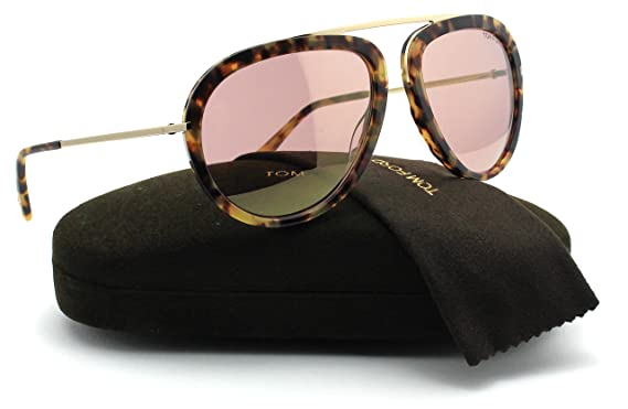 ad9accb47568 Amazon.com  Tom Ford FT0452 STACY Metal Aviator Unisex Sunglasses (Blonde  Havana Frame