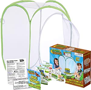 Nature Bound Toys Butterfly Garden Habitat & Terrarium, 24 Inches Tall with Large Zipper Larvae Coupon Included in Kit