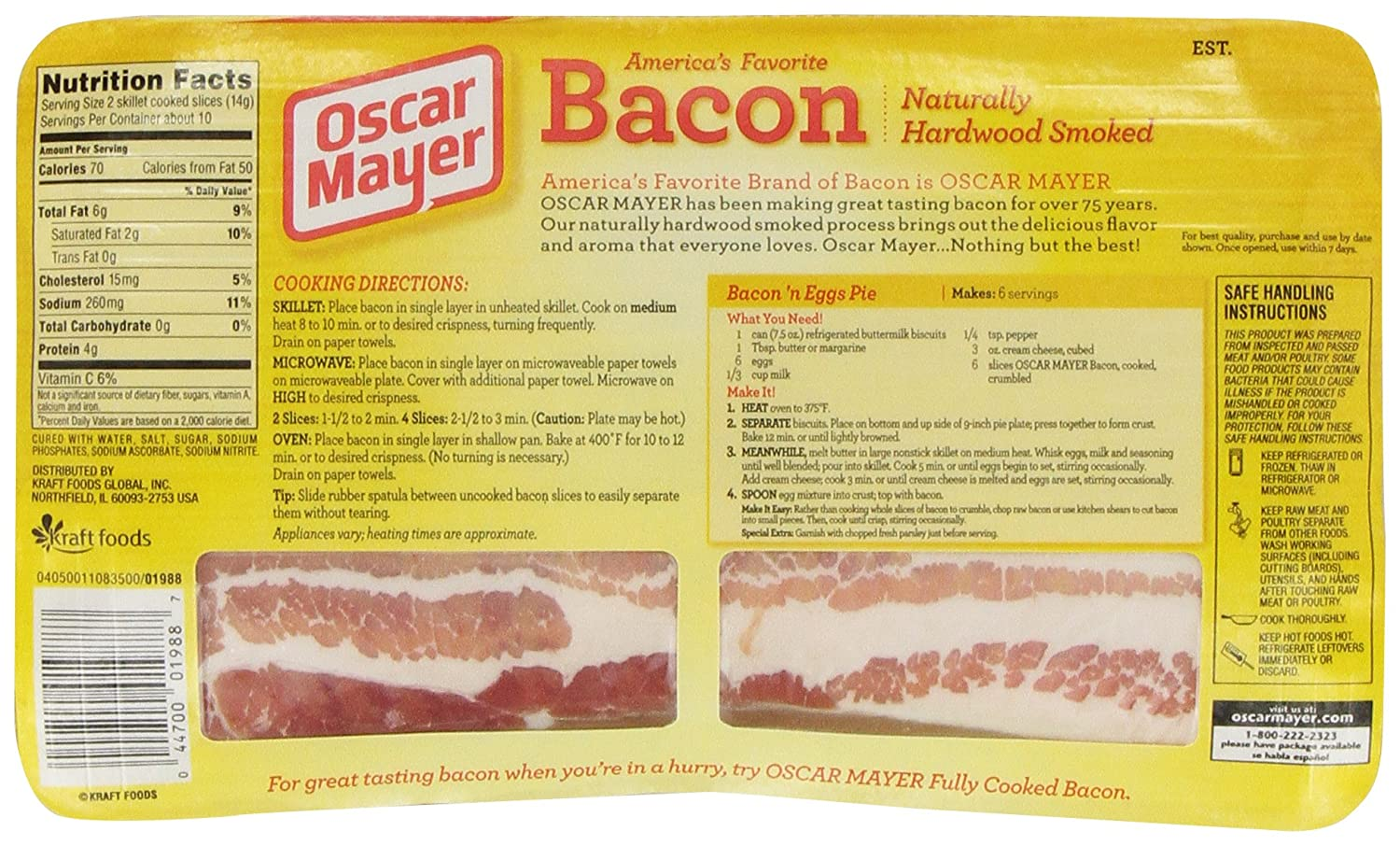 What Are The Different Types Of Sausages further Bacon Bomb Explosion also 291166671481 together with Our Products moreover Aunt Jemima Original Pancake And Waffle Mix 907g 2lb 5127 P. on oscar mayer sliced