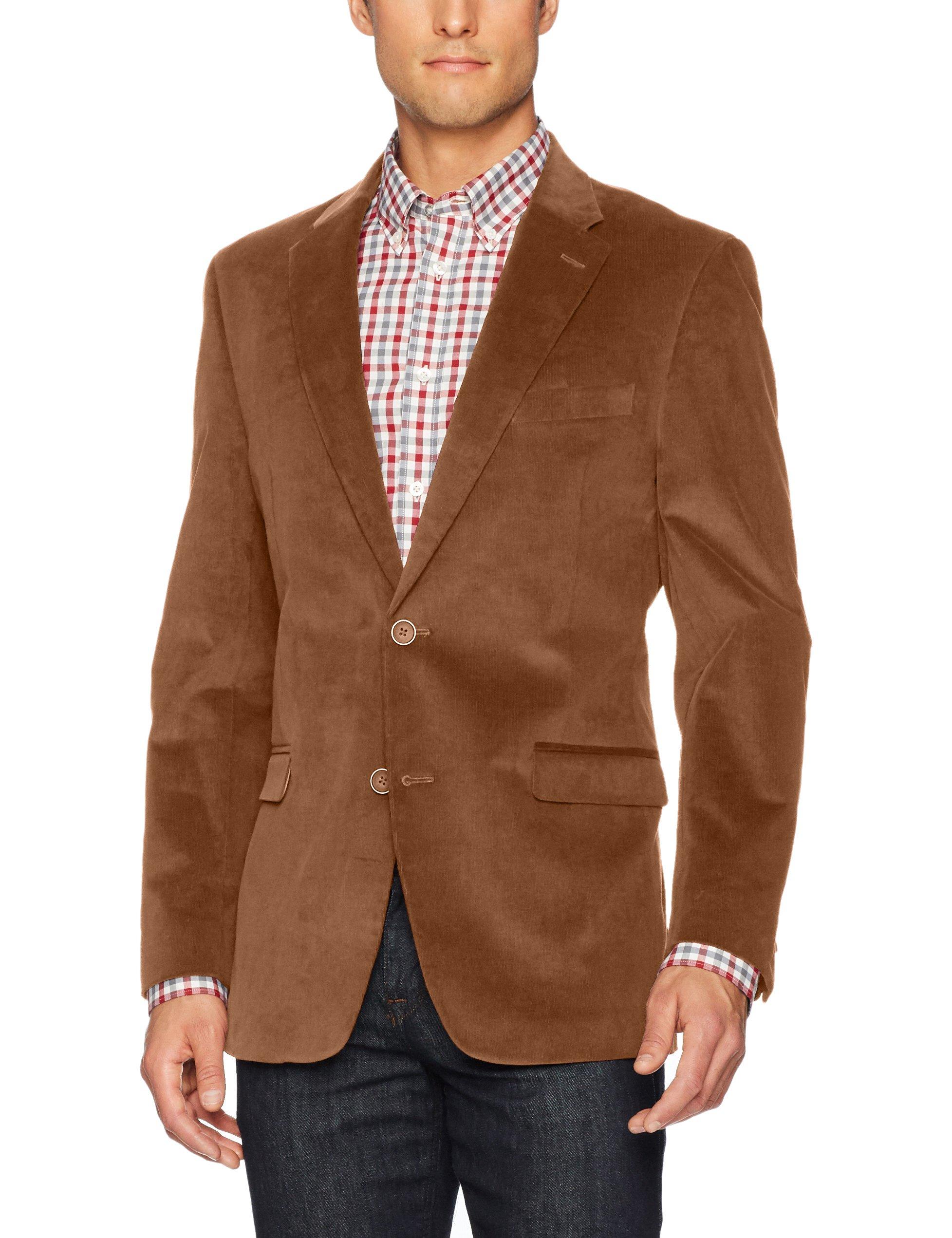 Tommy Hilfiger Men's Cord Stretch Sportcoat Blazer, Khaki, 42R