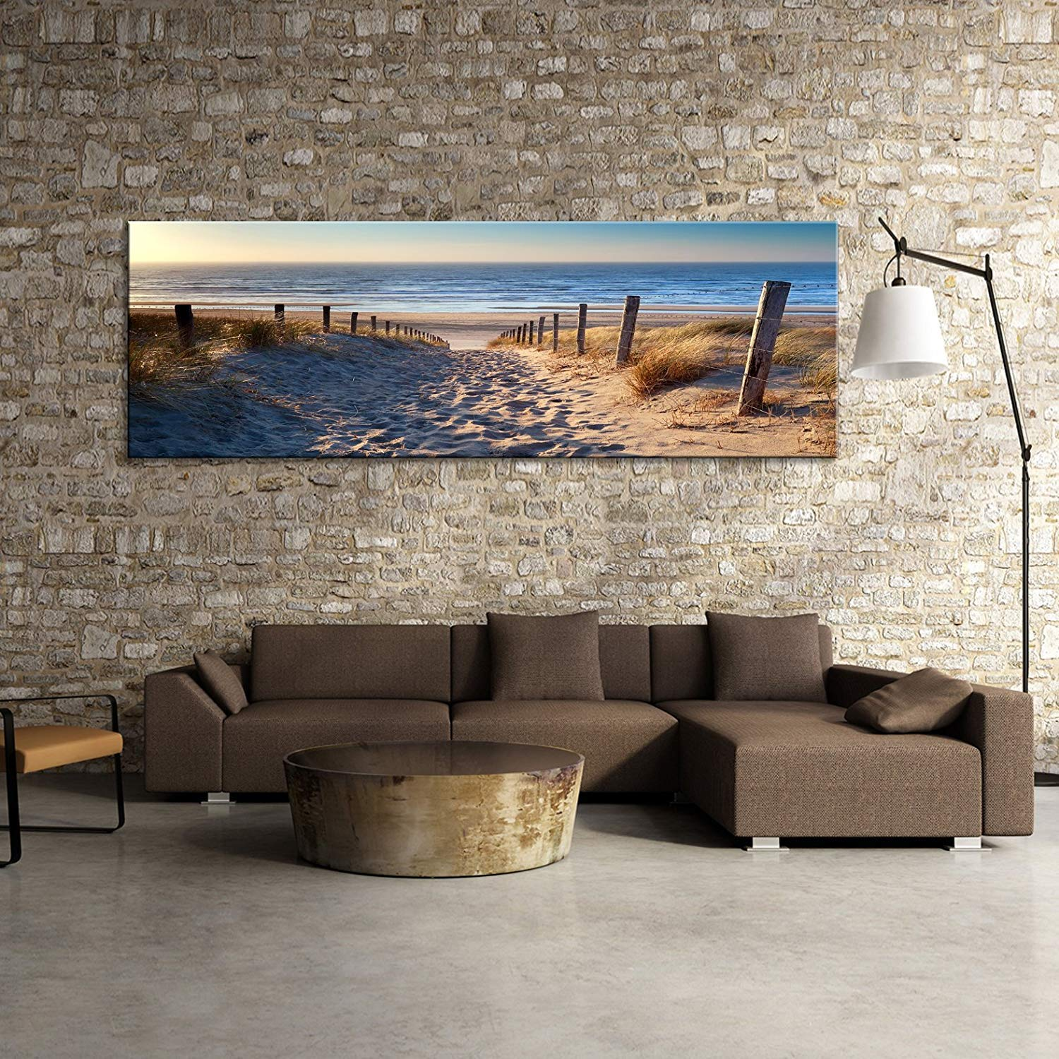 Wall Art sea Beach Stretched and Framed Ready to Hang Canvas Art for Home Decoration