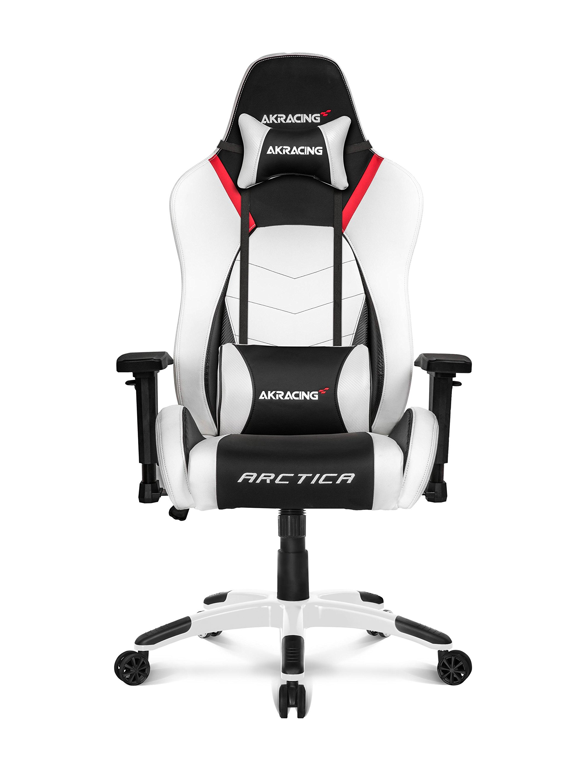 AKRacing Arctica Ultra-Premium White Concept Gaming Chair with High Backrest, Recliner, Swivel, Tilt, Rocker and Seat Height Adjustment Mechanisms with 5/10 warranty (White)