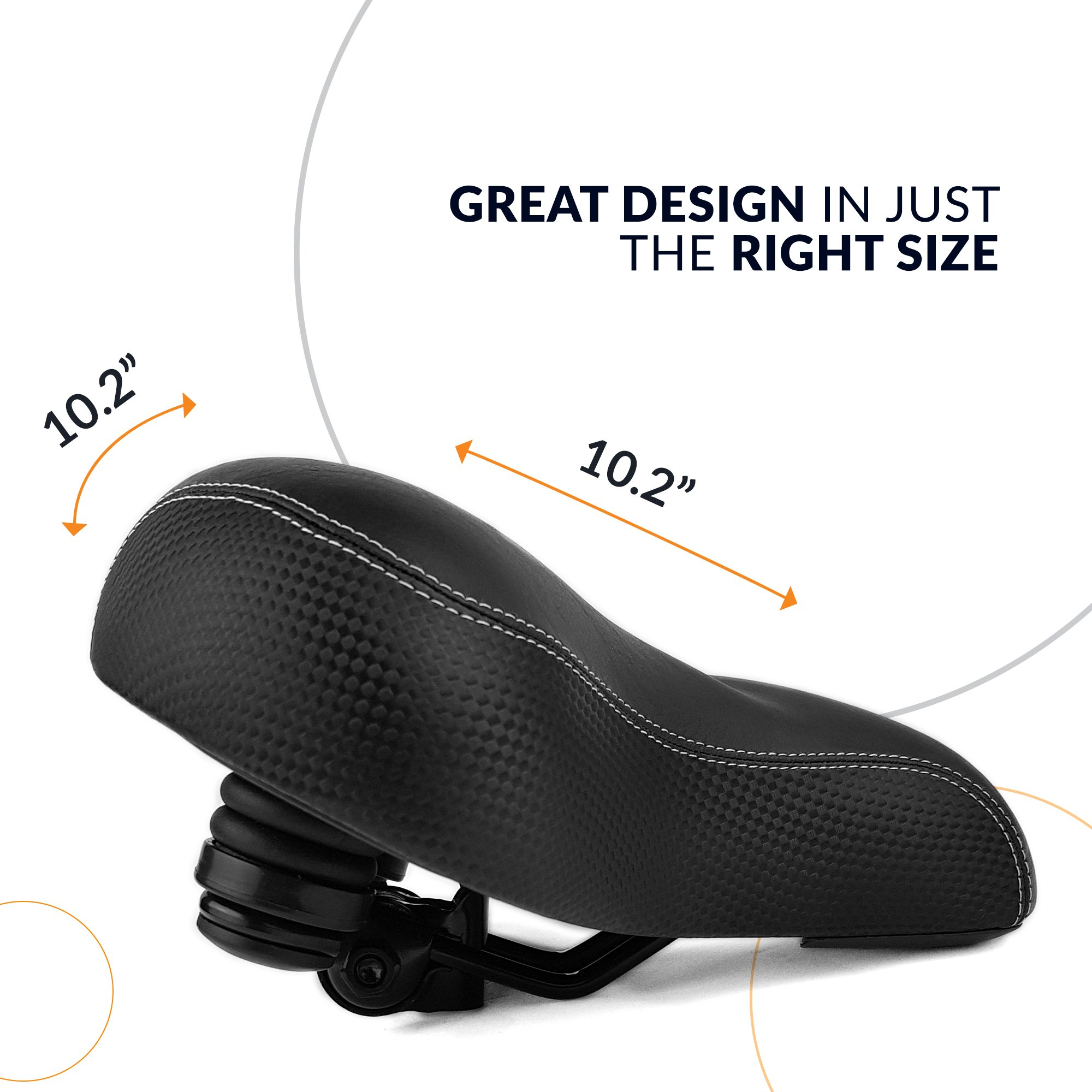 8b70336549f Bikeroo Most Comfortable Bike Seat for Seniors – Extra Wide and ...