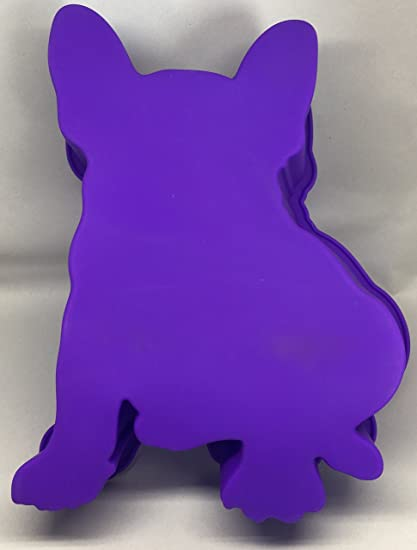 French Bulldog Boston Terrier Dog Birthday Cake Pan Silicone Purple Large