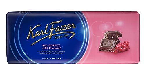 Fazer Milk Chocolate with Red Berries (200g)