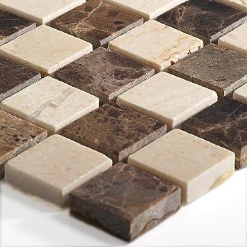 Wunderbar Marmor Naturstein Mosaik Fliesen Beige Braun Mix