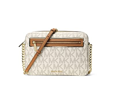 10d86d0b484f Image Unavailable. Image not available for. Color: Michael Kors Womens Faux  Leather Crossbody East West Handbag ...