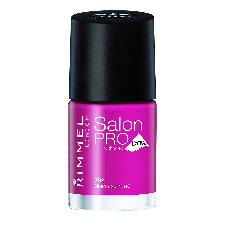Amazon.com : Rimmel Salon Pro with Lycra Nail Polish, Barmy Blue ...