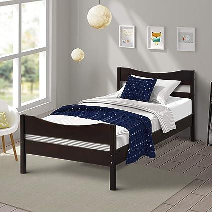 Amazoncom Merax Wood Platform Bed Frame Mattress Foundation With