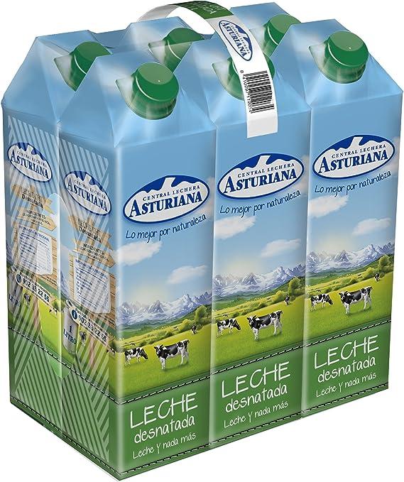 Central Lechera Asturiana - Leche Desnatada Brik 1L (Pack 6): Amazon.es: Alimentación y bebidas