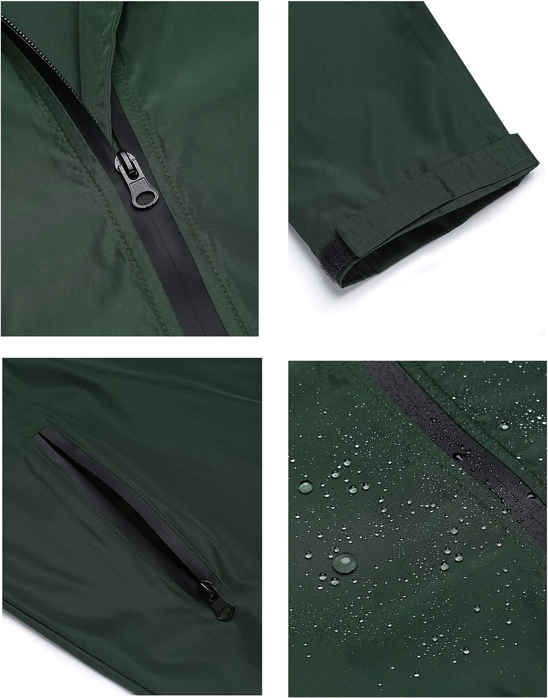 Bricnat Regenjacke Damen Atmungsaktiv Windbreaker Leichte Regenmantel Wasserdicht /Übergangsjacke Lange Kapuzenjacke