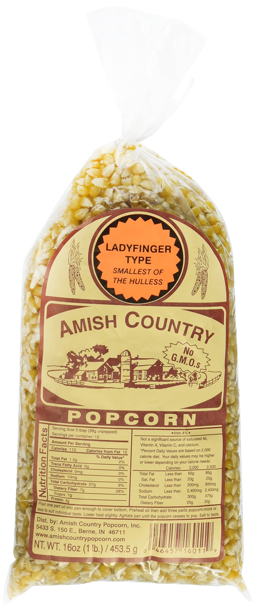 Amazon.com: Tender Pop Hulless Popcorn Kernels 2 Lbs