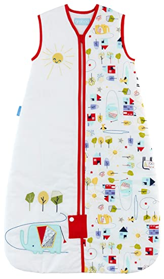 low priced dde57 73d6f Grobag Baby Sleeping Bag Warm Weather Summer 1.0 Tog 18-36 Months Good  Morning Sunshine 100% Cotton Toddler Unisex Nursery Multi-Coloured Front Zip