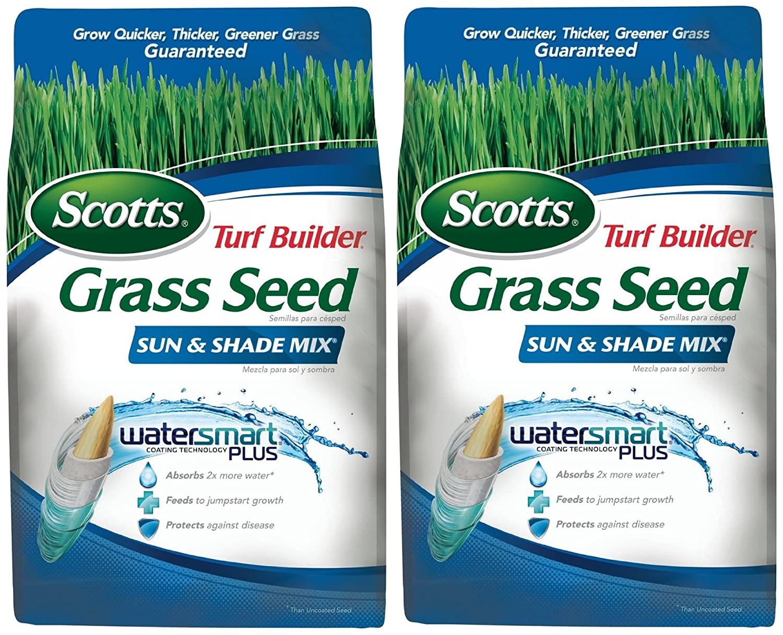 Amazon.com: Scotts Turf Builder Grass Seed - Sun and Shade Mix ...