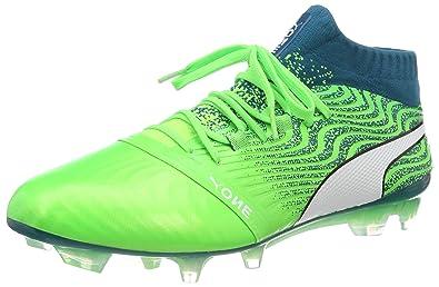 new style 6183e 1ebdd Puma One 18.1 FG, Chaussures de Football Homme, Vert (Green Gecko White-