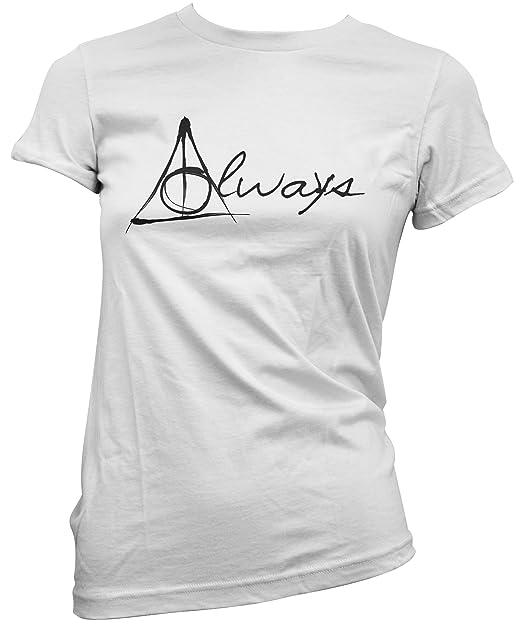 Camiseta Mujer Always Script - Harry Potter Camiseta 100% algodòn LaMAGLIERIA: Amazon.es: Ropa y accesorios