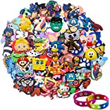 Lot of 20,50,100pcs Random PVC Different Shoe Charms for Shoe Decoration Wristband Bracelet Party Gifts