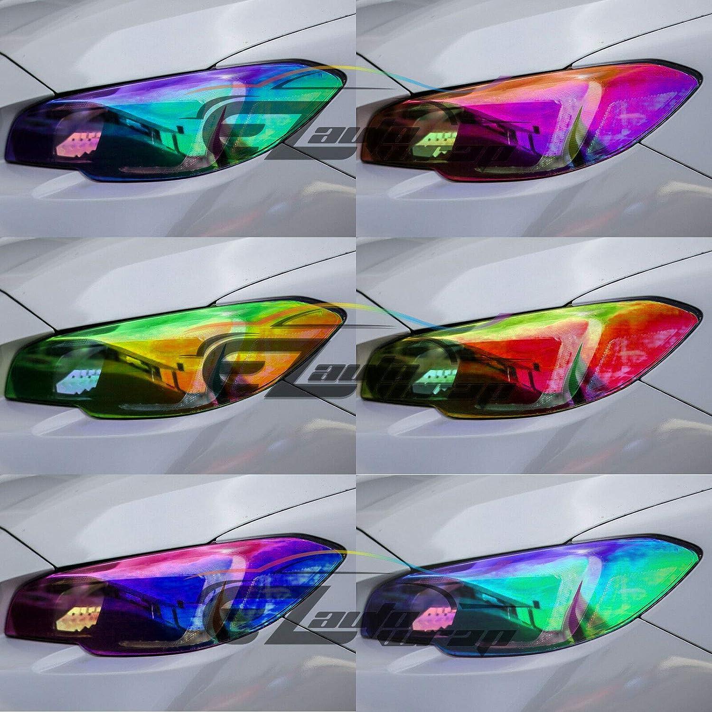 1FT x 2FT Glossy Dark Black Smoke Headlight Taillight Fog Light Side Marker Vinyl Tint Film Self Adhesive EZAUTOWRAP Free Tool Kit 12x24