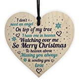 Red Ocean Christmas Tree Decoration Bauble Memorial Quote Poem