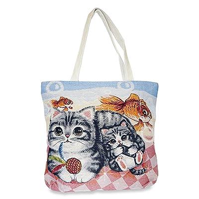 Cat Tapestry Tote Bag X-Large