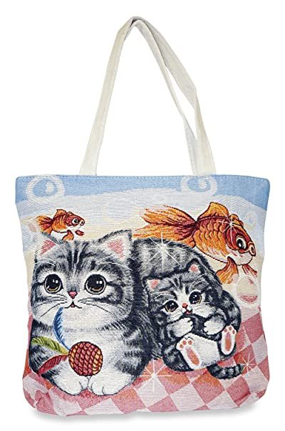 1db51e90f7 Image Unavailable. Image not available for. Color: Cat Tapestry Tote Bag X- Large