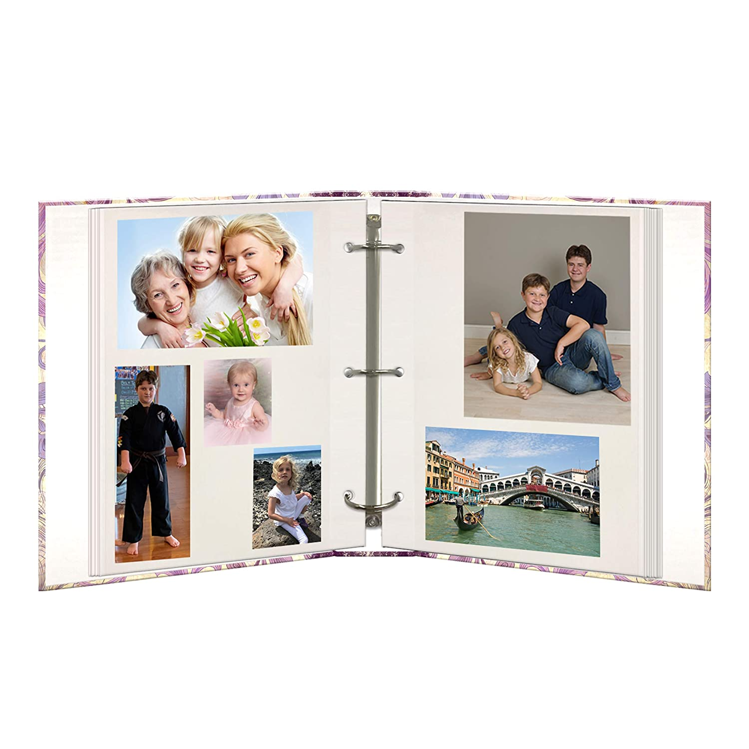 Bold Flower, Pioneer Photo Albums TR-100D Explosion Magnetic 3-Ring Photo Album 100 Page