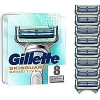 Gillette SkinGuard scheermesjes voor heren, met aloë vera, gevoelige huid, verpakking met 8 reservemesjes