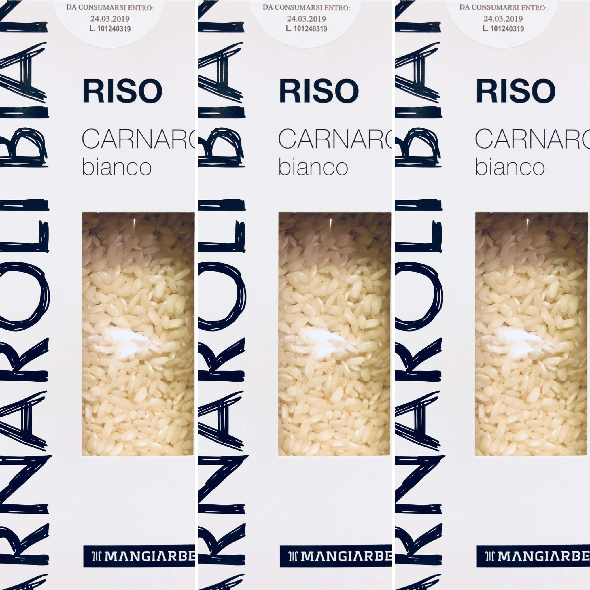 Aged Gourmet Carnaroli Risotto Rice - Real Aged Carnaroli Classico - Produced and Imported From Italy - by Serendipy Life (2.3 Lb) (3 Pack) by Serendipity Life