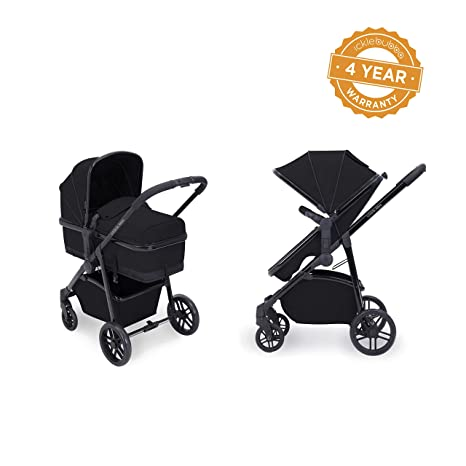 Ickle Bubba Moon - Carrito y silla de paseo 2 en 1, color negro