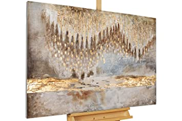Handgemalte Bilder Auf Leinwand kunstloft acryl gemälde tropfsteinhöhle 120x80cm original