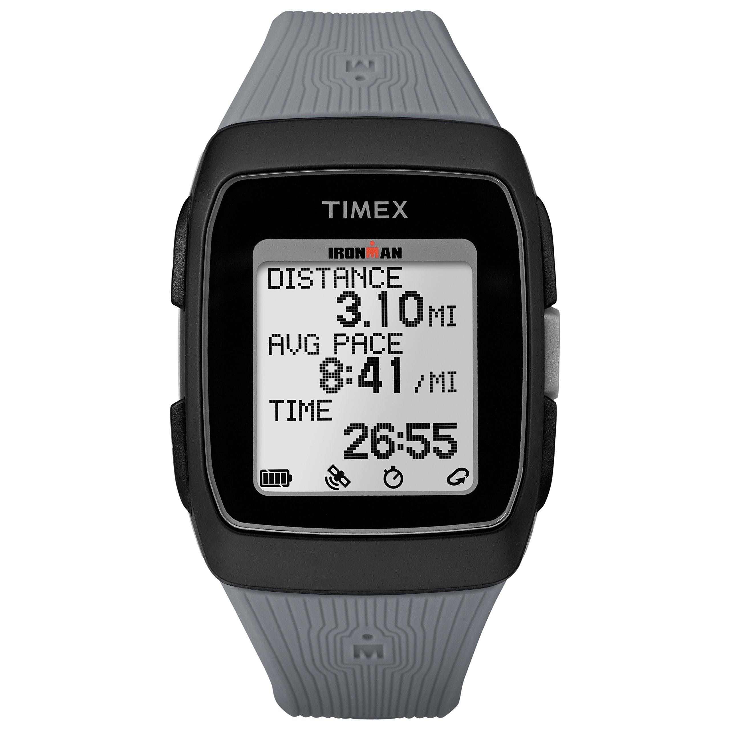 Timex Unisex TW5M11800 Ironman GPS Black/Gray Silicone Strap Watch by Timex (Image #1)