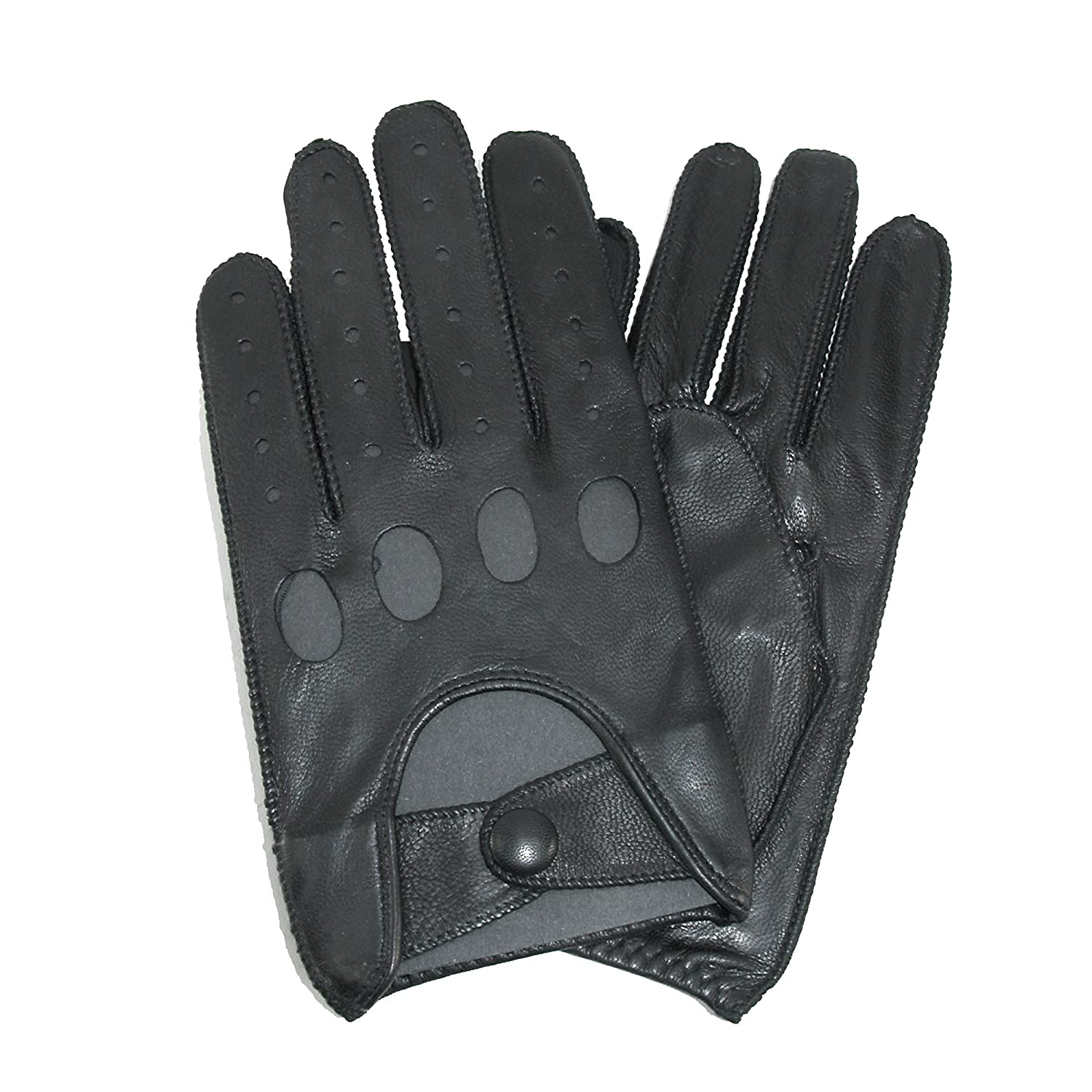 Mens leather gloves grey - Isotoner Men S Smooth Leather Driving Glove With Covered Snap Brown Medium At Amazon Men S Clothing Store Cold Weather Gloves