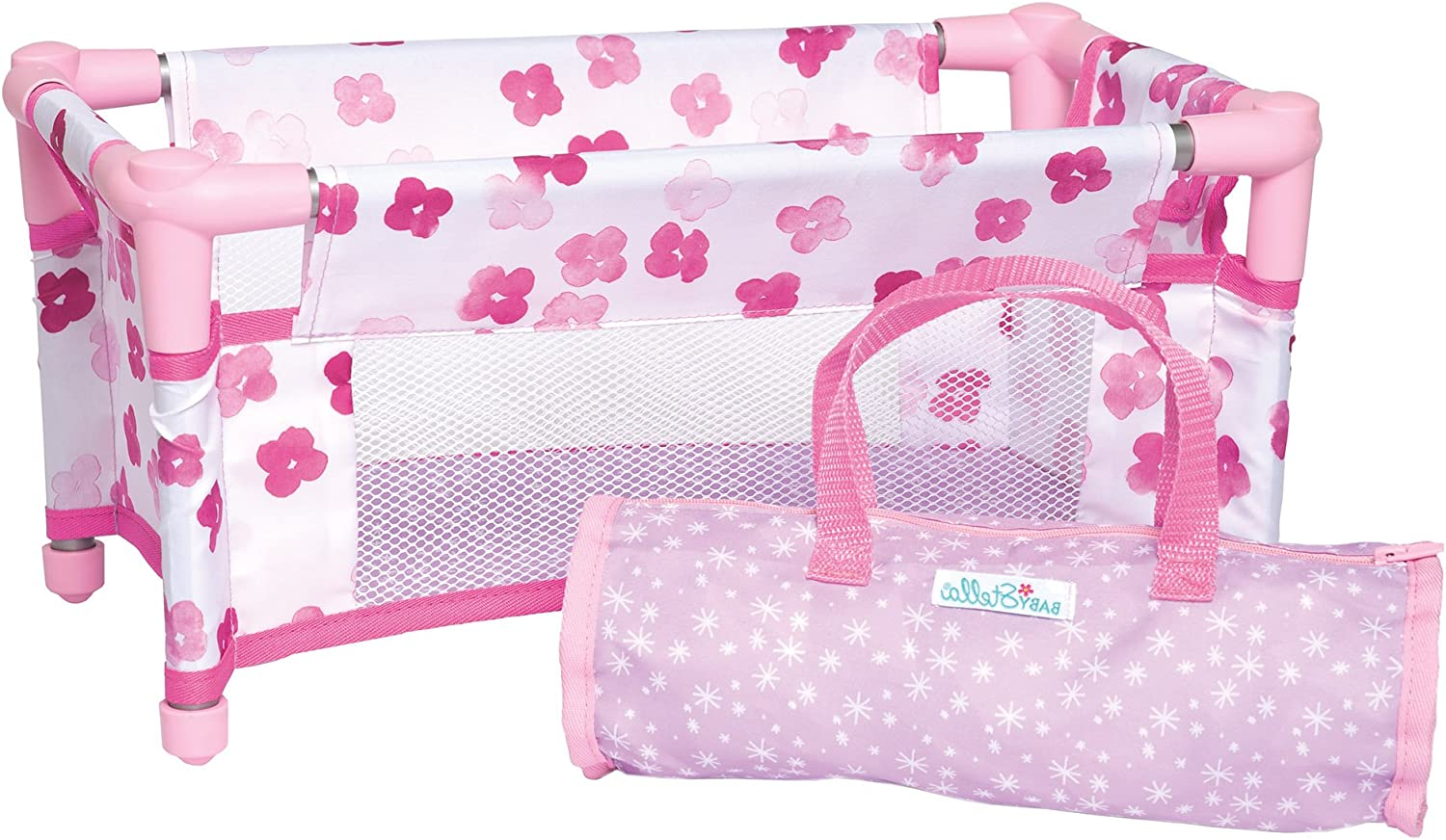 Manhattan Toy Baby Stella Take Along Baby Doll Crib Accessory Set for 12 and 15 Soft Dolls