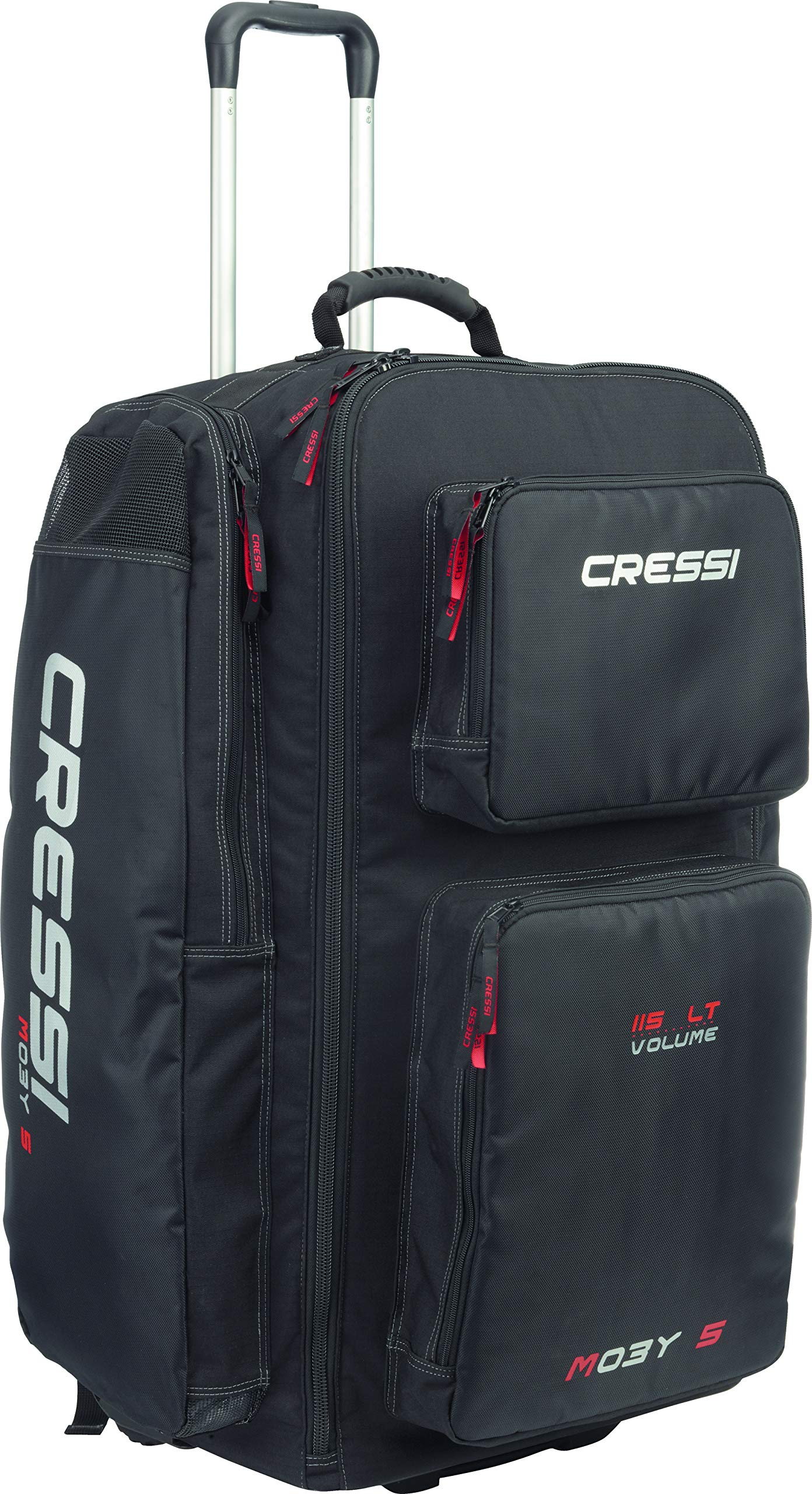 Cressi Strong Large Capacity Trolley Bag 115L with Backpack Straps | Moby 5 designed in Italy by Cressi