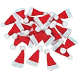 c738b82459032 Fun Express Lot 24 Mini 1`` Red Santa Hats Christmas Doll Crafts ccgroupshop