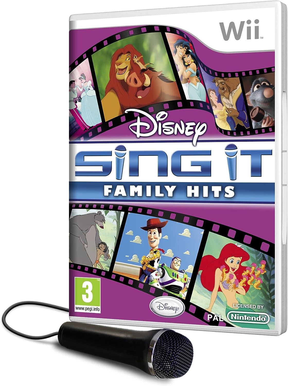 Disney Sing It Family Hits plus Microphone (Wii) [Importación inglesa]: Amazon.es: Videojuegos