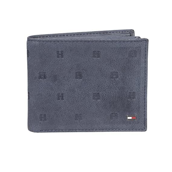 Tommy Hilfiger Men s RFID Blocking Leather Passcase Wallet with Emboss  Bi-Fold, Navy, 3587b4821a5