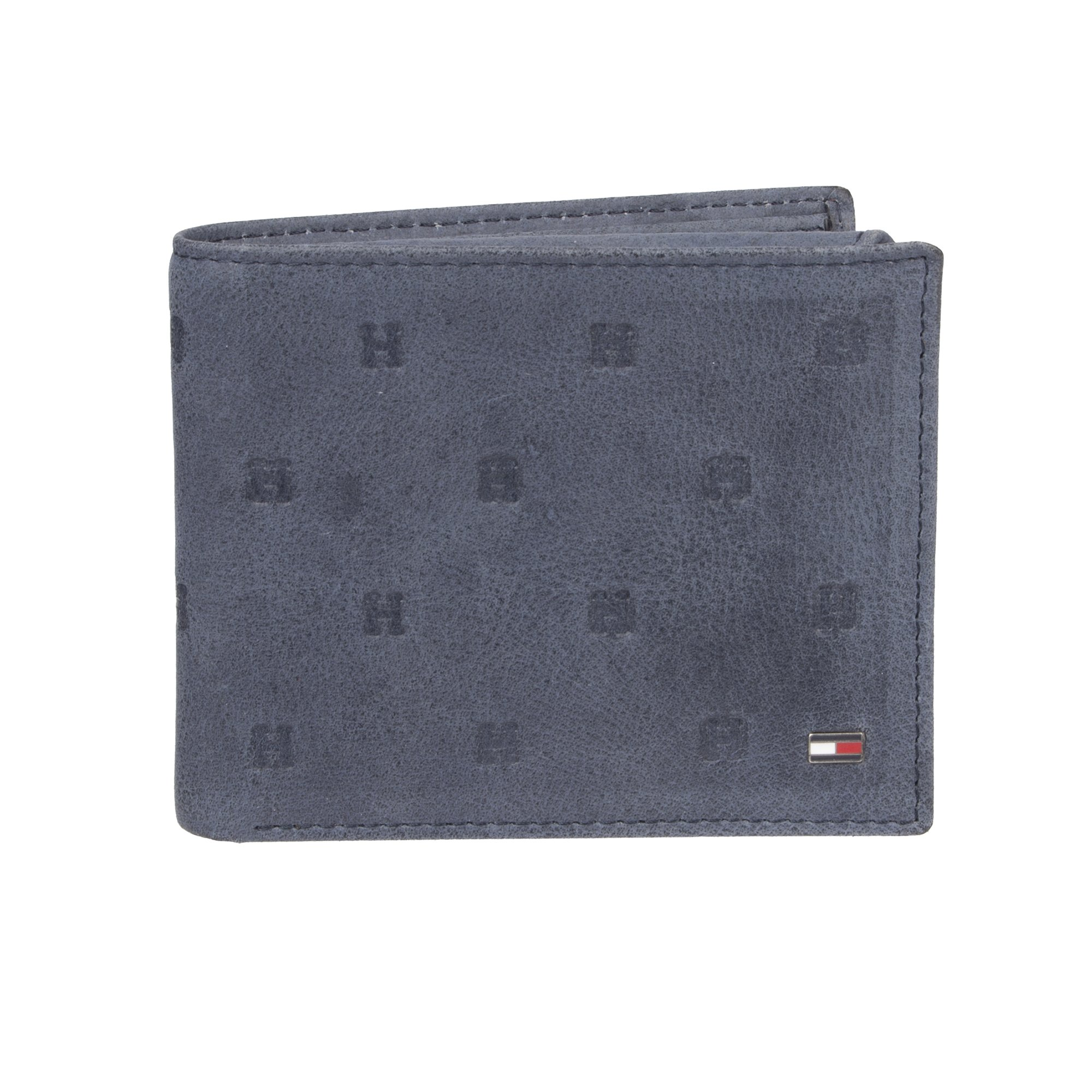 Tommy Hilfiger Men's Leather Wallet - RFID Blocking Slim Thin Bifold with Removable Card Holder and Gift Box, Navy