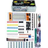 Quad Store(TM) - Basic Electronics Kit for Arduino Uno R3, Raspberry Pi with breadboard, capacitor, resistor, led, switch etc