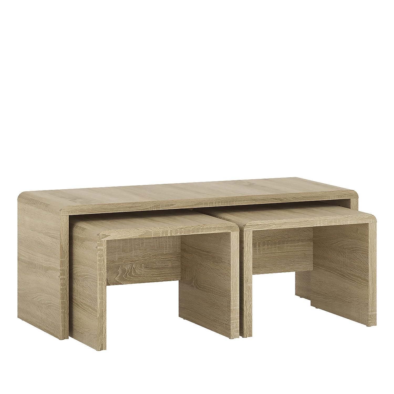 P&N Homewares Crescita Wide Nest Tables in Oak | Living Room | Furniture |100cm Wide