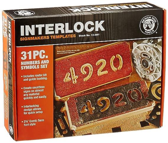 Bench Dog Tools 10 051 Interlock Signmaker S Numbers Set Router