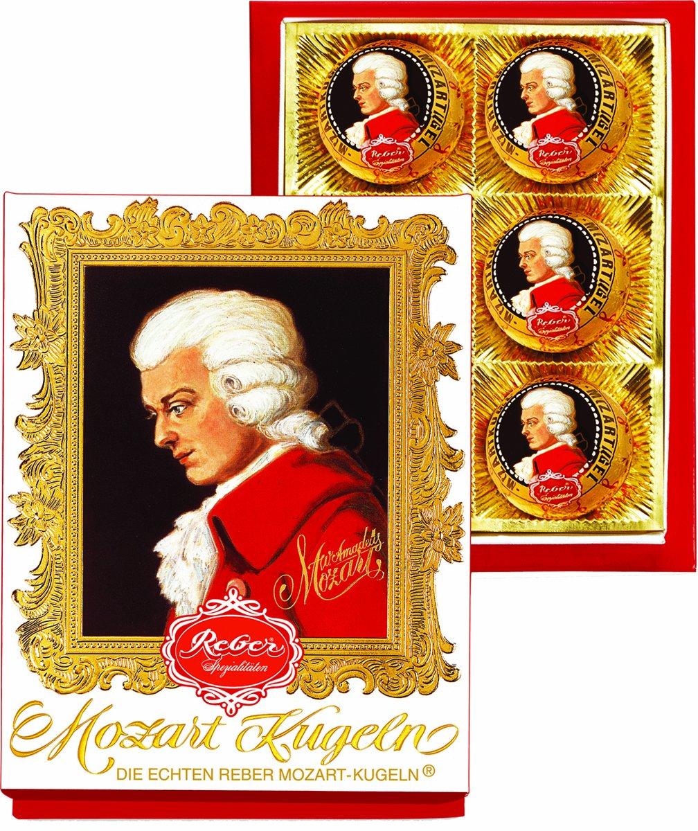 Reber Mozart Kugel 6 Piece Portrait Box, 4.2 Ounce