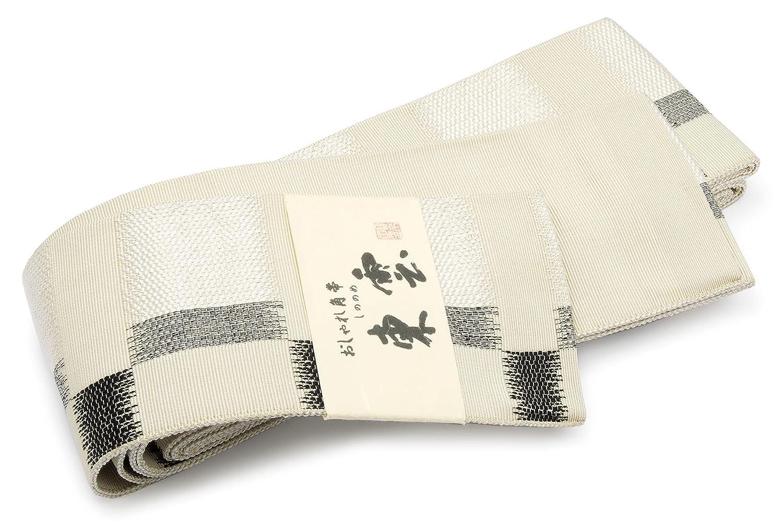 角帯 未仕立て 近賢織物謹製 薄茶色 黒 格子 縞 市松 米沢織 宝来 正絹 日本製 B07FX7DKRK