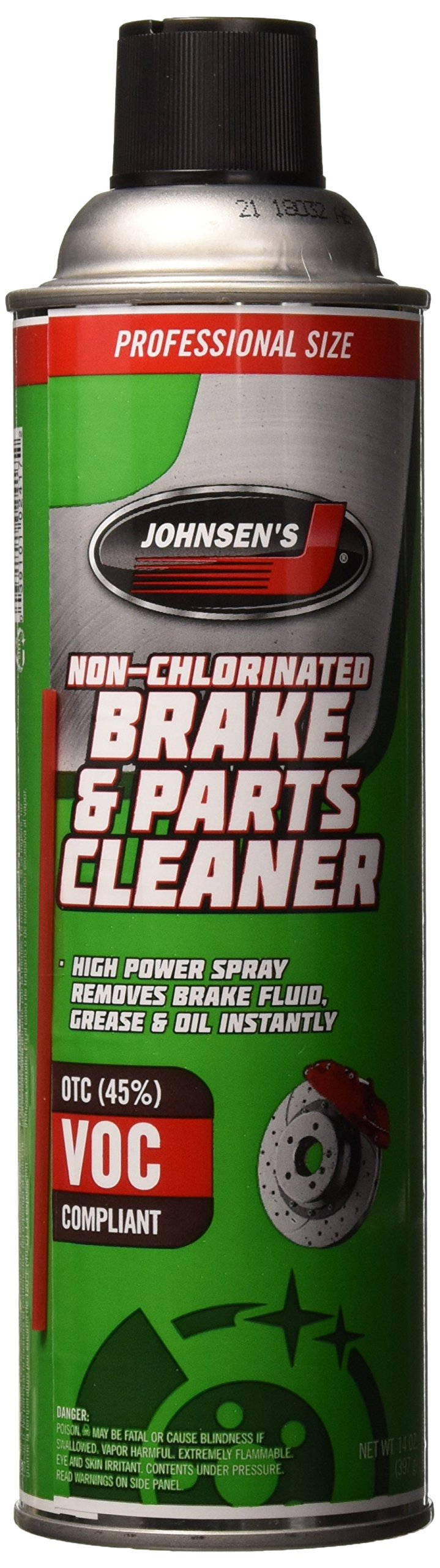 Johnsen's 2417-12PK OTC Compliant Non-Chlorinated Brake Cleaner - 14 oz,